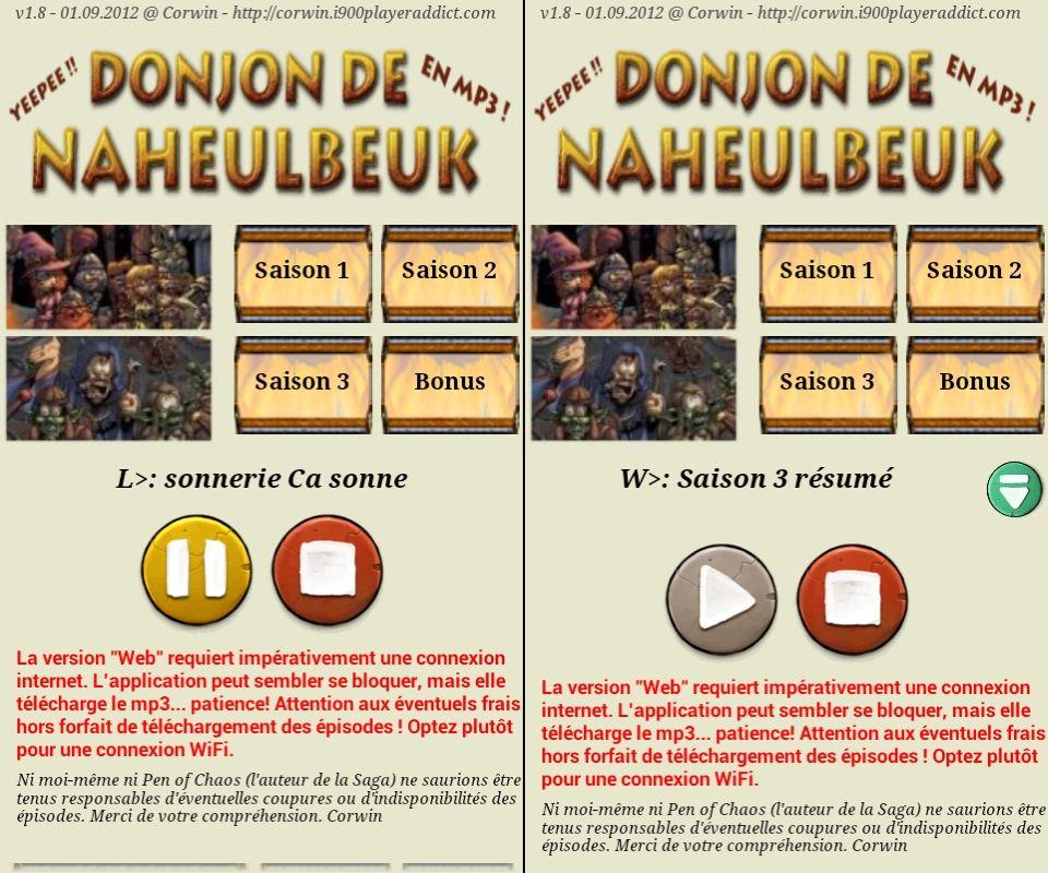 [SOFT] LE DONJON DE NAHEULBEUK : suivez, en audio streaming et les news en RSS, de la cultissime série [Gratuit] 2