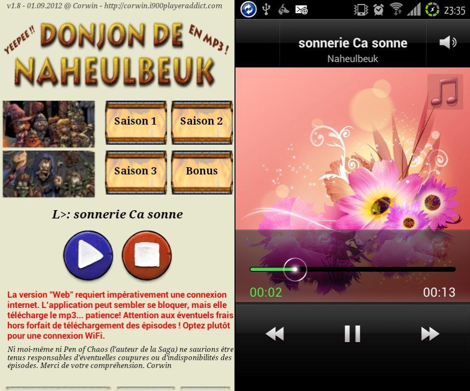 [SOFT] LE DONJON DE NAHEULBEUK : suivez, en audio streaming et les news en RSS, de la cultissime série [Gratuit] 3