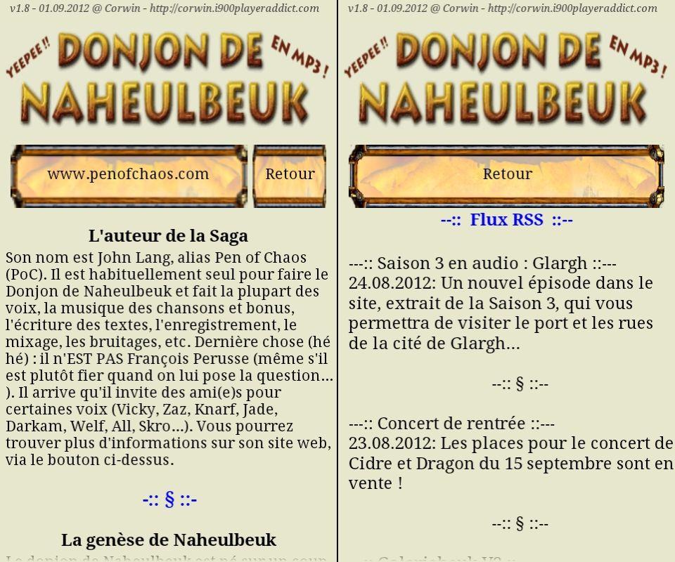 [SOFT] LE DONJON DE NAHEULBEUK : suivez, en audio streaming et les news en RSS, de la cultissime série [Gratuit] 4