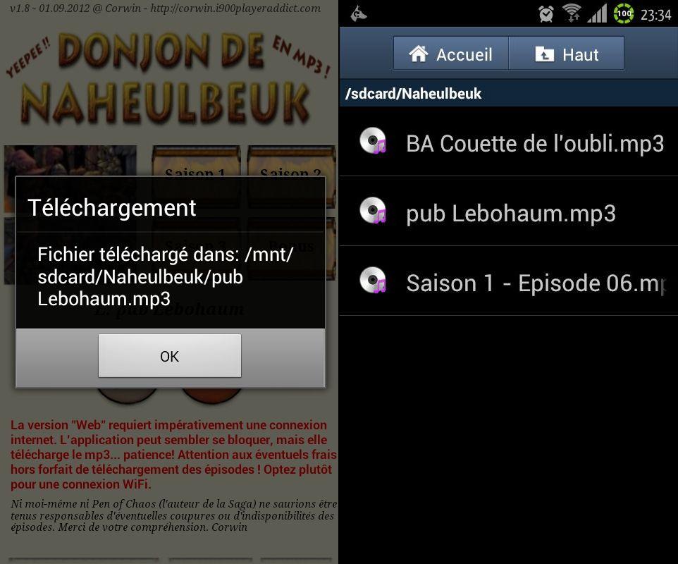 [SOFT] LE DONJON DE NAHEULBEUK : suivez, en audio streaming et les news en RSS, de la cultissime série [Gratuit] 6